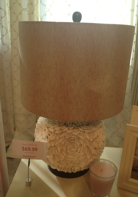 The bottom of this lamp is all shells!