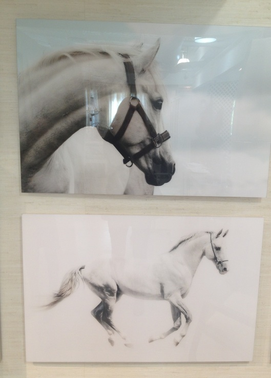 These are prints on acrylic. Equestrian is very in right now.