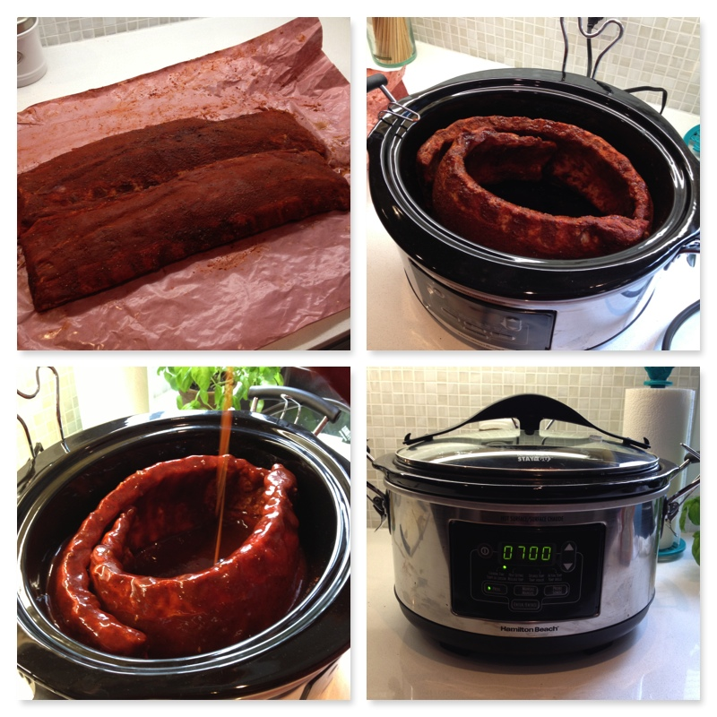 Slow Cooker Ribs Collage